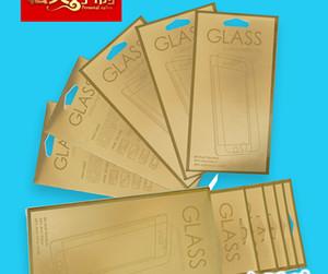 180 * 88mm Gold Farbe Universal Kleinpaket Papier Verpackung Box Für Handy Gehärtetem Glas Displayschutzfolie