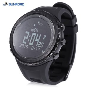 SUNROAD Relojes FR803 Bluetooth 4.0 Deportes Smart Watch Life Impermeable Podómetro Termómetro Brújula Reloj de pulsera al aire libre para Android IOS B