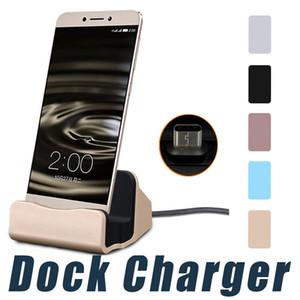 Универсальное быстрое зарядное устройство док-станция Подставка Держатель для зарядки док-станция для синхронизации Samsung S6 S7 края Примечание 5 Тип C Android с розничной коробкой