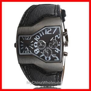 2016 더 다이얼 남성 시계 럭셔리 스포츠 남성 가죽 시계 패션 석영 손목 시계 새로운 디자인 고품질 자동 남성 시계 럭셔리