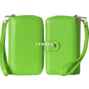 Бумажник длинный кошелек мода молния кожа Mbile телефон чехол с монета сумка кошелек для iphone6