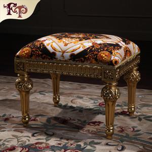 Francés clásico fabricante de muebles sala de estar clásico pie taburete clásico muebles de madera muebles royal - muebles para el hogar envío gratis