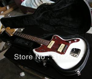 Spedizione gratuita HOT commercianti jazz maestro bianco chitarra elettrica con custodia
