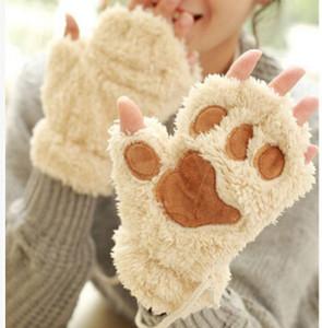 مخلب مخلب أفخم القفازات قصيرة أصابع نصف اصبع قفازات الدب القط أفخم مخلب مخلب نصف إصبع قفاز لينة نصف غطاء قفازات موك 30 أزواج