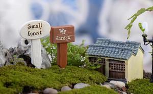 Новые прибытия смолы ремесла вывеска вывеска миниатюры сказочный сад гном мох террариум декор бонсай фигурки микро пейзаж
