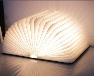 LED 나이트 라이트 접는 책 빛의 USB 포트 충전 나무 자석 커버 홈 테이블 책상 천장 장식 램프 화이트 / WarmWhite