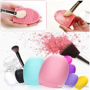 Brushegg Silicone Brush Cleaning Egg Brush 8 Colors Cosmetic Brush Cleanser Make up Makeup Brush Cleaner Clean tool