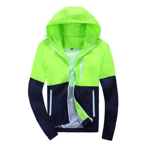 Windbreaker Jackets Spring Autumn Brand Men Women Unisex Basic Coats Hooded Jackets Fashion Thin Zipper Coat Outerwear Clothing