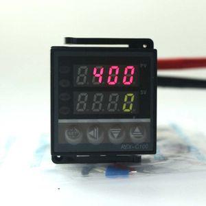 Controlador de Temperatura Universal PID Digital Com Termopar K Probe REX-C100 Termostato de Saída de Relé Programável