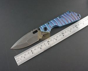 Sanglier Strider SMF Réservoir SNG Lame de couteau Couteau pliant D2 lame en titane G10 Flame Titanium manche en alliage Couteau de chasse tactique EDC