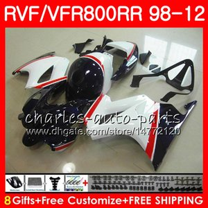 VFR800 For HONDA Interceptor VFR800RR Темно-синий 98 99 00 01 02 03 04 12 90NO52 VFR 800 RR 1998 1999 2000 2001 2002 2003 2004 2004 Обтекатель