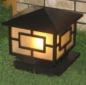 Japanes Top Brass Landscape Bronce Black Classic Aire Libre Apariedadense Puerta al aire libre en Antique Bolardo Post Light Lamp Wall Llfa Hagoo