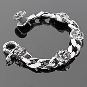 Braccialetto in acciaio inossidabile di scheletro della catena a maglia di vendita calda di modo Braccialetto di 17mm largo della bicicletta dei braccialetti della bicicletta dei braccialetti degli uomini