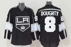 Фабрика Outlet мужская Новый 100% полиэстер Лос-Анджелес Кингс 8 обратил Doughty Team цвет черный мужская мода лучшее качество хоккейные майки