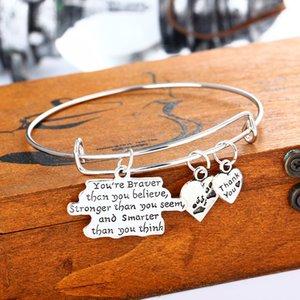 Pulsera de plata para las mujeres joyería del brazalete corazón círculo carta abuela amor día de la madre regalo familiar encanto hecho a mano estilo vintage
