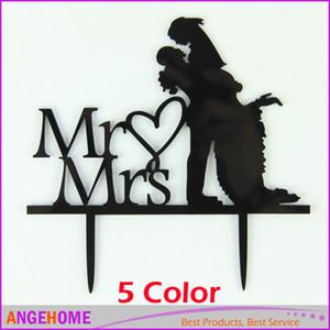 5 Renk Düğün Pastası Topper, Düğün Dekorasyon, Akrilik gümüş glitter, Siyah, Ayna Gümüş, Düğün Pastası Dekor