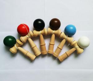 DHL / Fedex Livre Novo Grande tamanho 18 * 6 cm Kendama Bola Japonês Tradicional Jogo De Madeira Toy Educação Presente Crianças brinquedos 6 cores B001