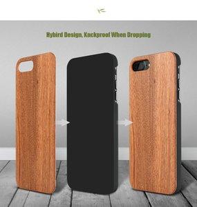 Caso de madeira genuíno para iphone 7 plus multi-grão original de madeira natural rígido pc de volta toque suave capa para iphone 7 case