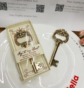 свадьбы польза и подарки для гостя Key To My Heart Античной Key Бутылки открывалка 50шта оптового