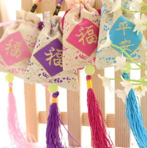 La nueva bolsa de Ping An Fu bolsa bolsita de bordado de aroma se puede personalizar HS008 orden de la mezcla como sus necesidades