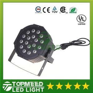 DHL Big Led luz de escenario 18x3W 54W 85-265V Alta potencia RGB Par de iluminación con DMX 512 Master Slave Led Auto DJ controlador 1515