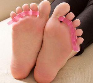 Салон силиконовые ногтей Toe сепараторы многоразовые Сепаратор для УФ-гель акриловых ногтей инструмент случайный цвет