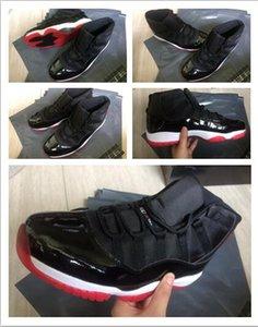 الجملة الجديدة وصول أحدث 11 رجل أحذية كرة السلة ولدت أسود أحمر الجلود والحبوب الكاملة أكبر النساء في الرياضة الرياضية في الهواء
