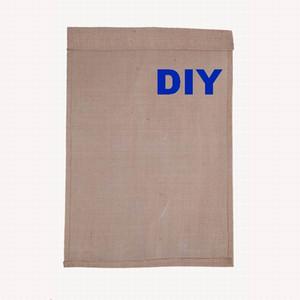 DIY Jute Sackleinen Garten Fahnen W / 12 * H / 18 Zoll H Liene Hof Hängende Flagge Haus Dekoration Gedruckt Muster Tragbare Bannerwerbung