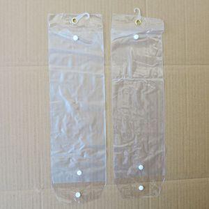 Extensões de cabelo PVC Sacos De Embalagem De Plástico Sacos de Embalagem com Pothhook 12-26 polegada para Embalagem de cabelo wefts fita extensões de cabelo Botão de Fechamento