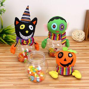 Çocuklar Karikatür Şeker Şişe Mutlu Halloween Party Şişe Çantası Şeker Kavanoz Ev Çocuk Kutular Kutusu Dekor Kutusu
