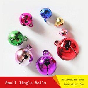 100 pcs Petite Taille Jingle Bells DIY Bijoux Accessoires Charms Perles Pendentifs 6mm 8mm 10mm Arbre De Noël Ornements Décorations De Noël