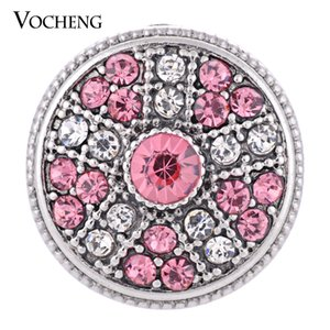 VOCHENG NOOSA Snap Button 3 Colors Filled Crystal 18mm Charm Jewelry Vn-1308