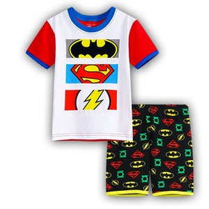2018 новый летний ребенок пижамы высокое качество костюмы мальчики короткие пижамы дети пижамы девушки мультфильм пижамы Детская одежда набор