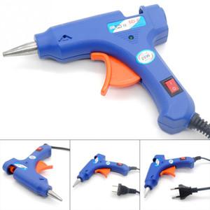 Calentador de alta temperatura Melt Hot Glue Gun 20W Herramienta de reparación Pistola de calor Blue Mini Gun con gatillo US / EU plug