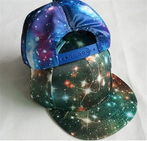 200pcs fashion Korean Galaxy Pattern Space Print Snapback Style Women Men Hats Unisex Fashion Baseball Hip Hop Cap D765
