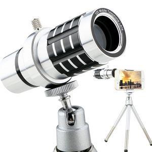 العلامة التجارية الجديدة 12X التكبير العالمي موبايل الهاتف التكبير تلسكوب بصري المكبر عدسة الكاميرا على عدسة الهاتف الذكي