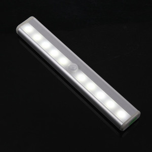10 LED PIR Infrared Motion Detector Wireless Night Light Kitchen Wardrobe Closet Cabinet lamp tube Bar Anywhere Portable Battery Operated