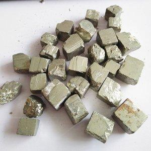 belle naturelle belle pierre minérale cristal de guérison de cristal cube chalcopyrite à vendre a dégringolé spécimen cube de pierres