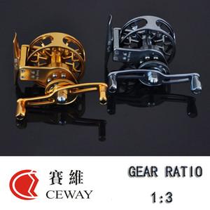 Летучий Reel HP-55 Левый Правый CEWAY Все Metal Fish Катушки Fly Fishing Reel снасти Оборудование Variable Speed Ice Fishing Reel новый бесплатный