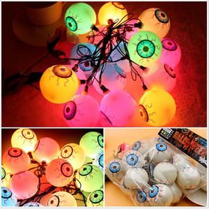 12 adet / grup Fantezi Göz Topları Dize Lattern Işıkları LED Gözküresi Renkli Strand Lamba Cadılar Bayramı Masquerade Cadılar Bayramı için HN303 Malzemeleri