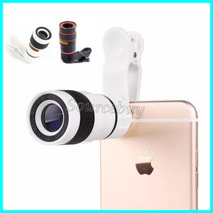 Telescópio Do Telefone Móvel Universal 8X Zoom Ampliação Da Lente Óptica Lente Da Câmera Telefoto Para o iphone samsung galaxy htc pacote de varejo dhl