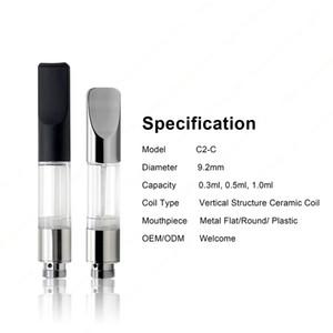 Vertcal Structure En Céramique G2 Cartouche 0.5ml 0.8ml Clair Tube vaprozier ce3 cartouche de réservoir d'huile