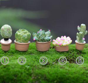 5pcs Kawaii 선인장 냄비 요정 정원 미니어처 테라리움 Baison 도구 인형 집 장난감 풍경 Zakka 장식 Gnomes Jardim 홈 액세서리