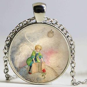 1 pz / lotto The Little Prince Collana con ciondolo Collana lunga fatta a mano per le donne