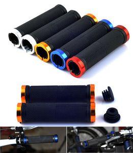 Guidão de bicicleta Grips 2x Outdoor bloqueio duplo sobre o bloqueio Handle Bar tenazes para BMX MTB Mountain Bike Guiador 4 cores bem escolhidas