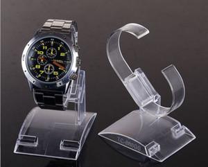 20 pcs / lot Vente Chaude C-anneaux style Transparent En Plastique Montre-Bracelet Présentoir Rack Magasin Boutique Show Stand Grande taille pour la montre de l'homme