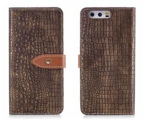 Para HUAWEI P10 Lite Funda con tapa Flip Wallet Card Cocodrilo de cuero cubierta de piel de cocodrilo para HUAWEI P10 Flip Case