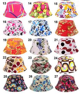 27 Colores 2016 Nuevas Mujeres de la Moda Cubo de Verano Sombrero de Sol Sombrero de Ala Ancha Estampado de Flores Lienzo Topee Sombreros Protección Solar Beanie Gorras