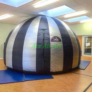 3D SILVER avec des écrans de projecteur de films gonflables noirs pour le cinéma, accepter un dôme de découverte gonflable sur mesure de 360 degrés pour Astronimy