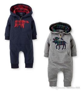 2016 primavera e autunno nuovo stile baby boy e ragazza Climb vestiti bambino Romoers con cappuccio bambini tute per bambini tuta per bambini